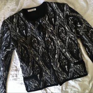 YSL Rive Gauche Wool Knit Blazer